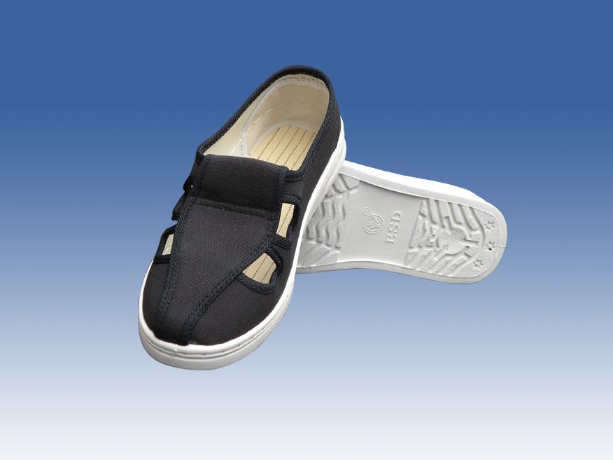 防静电藏青色帆布鞋