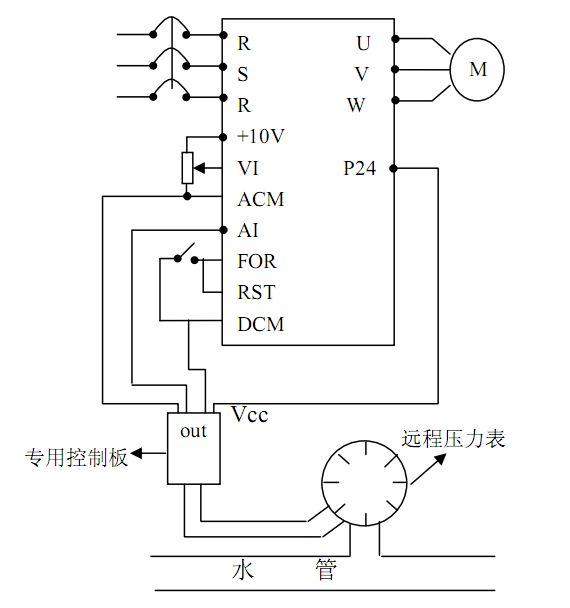 带压力表变频供水电路图