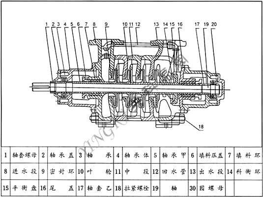 gc锅炉给水离心泵结构图