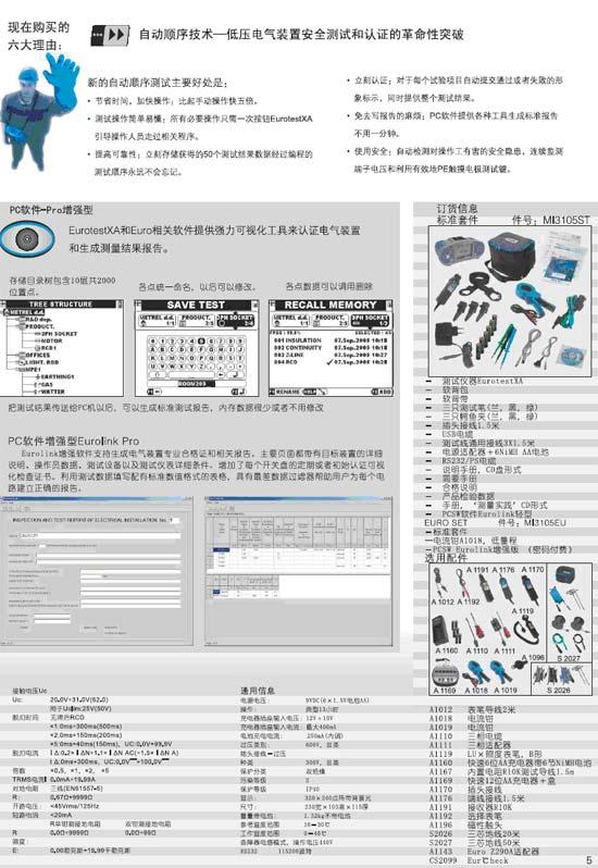 MI3105 Eurotest XA 低压电气综合测试仪