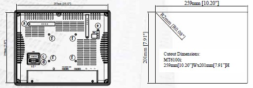威纶10寸触摸屏WEINVIEW深圳现货MT6100I