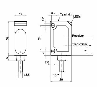 激光位移传感器 ft20 ra-60-f  采用激光三角测量原理或回波分析原理