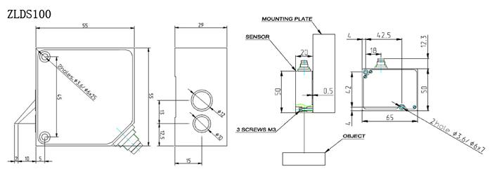 zlds10x可定制激光位移传感器