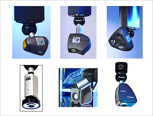 Figure 3. Non-Contact Sensors for Attachment to CMMs