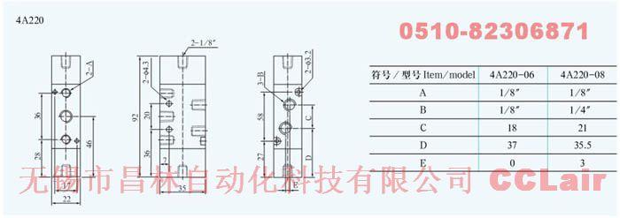 4A230P-08  4A230-08C   4A230-08E   4A230-08P   氣動閥