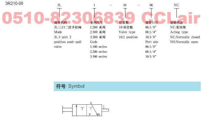 3L210-06   3L210-08     手拉阀