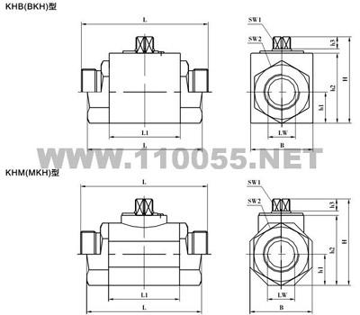 MKH-G1 1/2 MKH-G2 MKH-NPT1/8 高压球阀