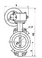 对夹式蜗轮传动软密封蝶阀D371X