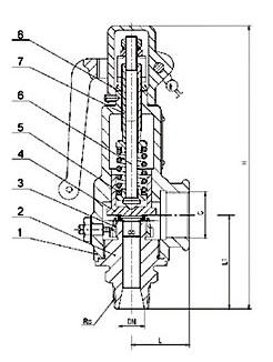 A27H/W弹簧微启式安全阀