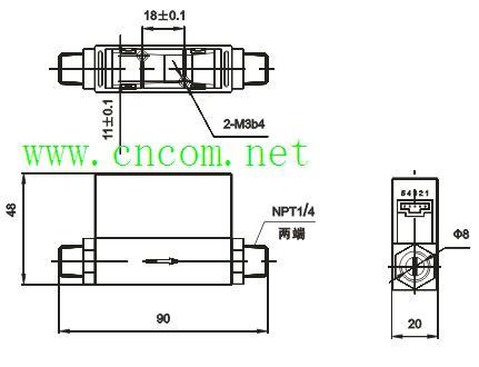 气体流量计/气体流量传感器 不带显示有输出信号 3mm