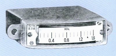 YJ-1(双针)矩形压力表