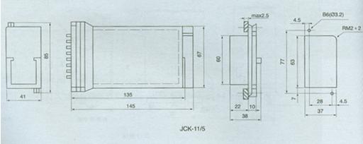 额定电压:AC 220V、110V、48V、24V、12V。  接点形式:6动合;3动合1动断2转换。  动作值:继电器的动作值为额定电压的30-70%。  返回值:不小于额定电压的5%。  动作时间:不大于45ms。  返回时间:不大于45ms.  功率消耗:不大于5W。  触点容量:在电压不超过250V,电流不超过5A,时间常数为5±0.