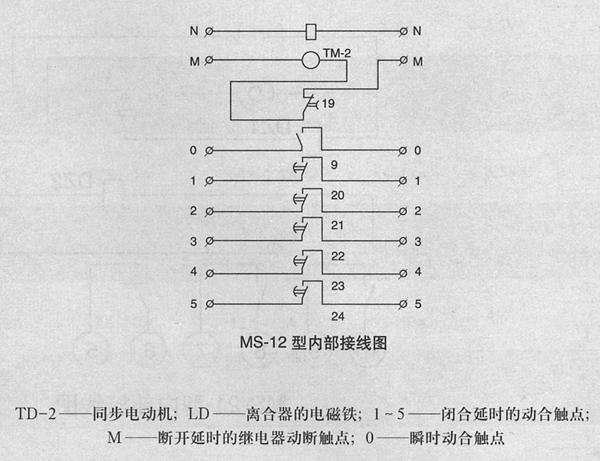 ms-12型多电路时间继电器 价格 接线图 厂家 控制