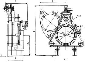 F943X电动扇形眼镜阀结构图