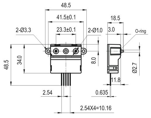 气体质量流量传感器 fs5001