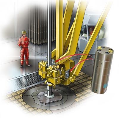 照片:离岸石油钻塔应用。